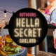 "Sat 8:45p Show - ""HellaSecret"" Outdoor Comedy Show & Cocktail Night (Oakland)"