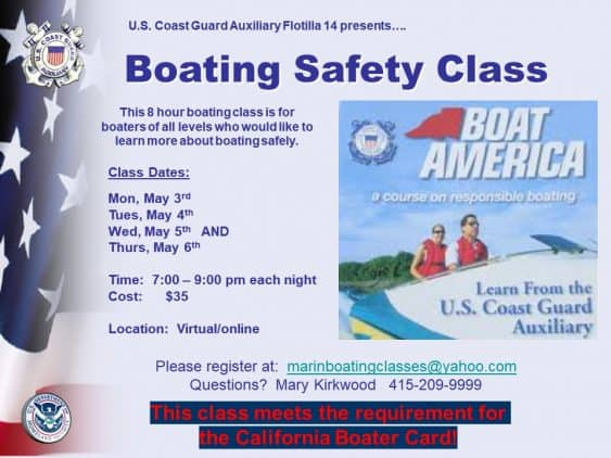 Virtual Boater Safety Class for California Boating Card