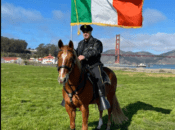SF's Police Horses' 'Luck of the Irish' Horseshoe Scavenger Hunt