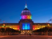 City Hall Lights Up for Pride