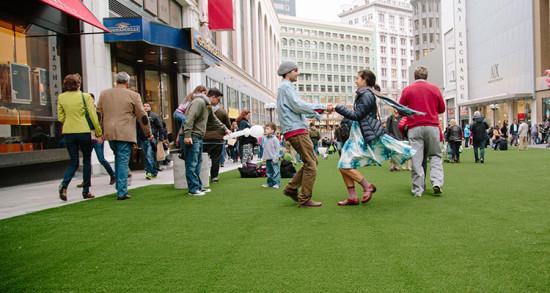 winter walk sf union square s pop up holiday plaza nov 26 dec 31