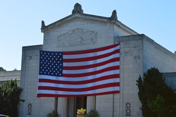Flag memorial day mountain view cemetery blow up1 563x374