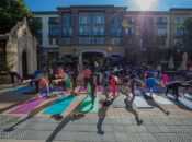 Summer Morning Yoga on Santana Row | San Jose