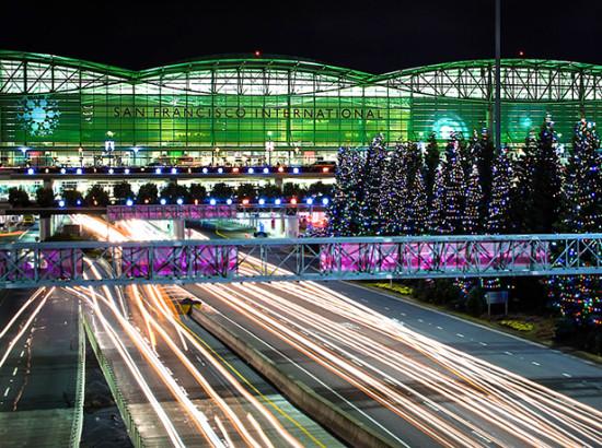 Sfo Lights Up For The Holidays 3 3 Million Led Lights