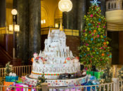 """12 ft. Tall """"Enchanted Sugar Castle"""" Holiday Display, Coffee & Cookies 