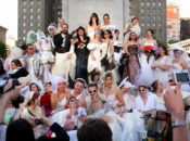 """Brides of March"" 2018 Wedding Dress Pub Crawl 