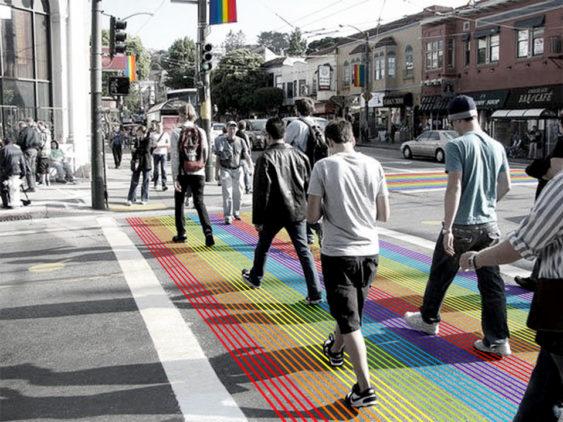 Rainbow crosswalk castro1 563x422
