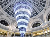 SF's Spectacular Upside Down 50-Foot Crystal Tree Lighting | Westfield Centre