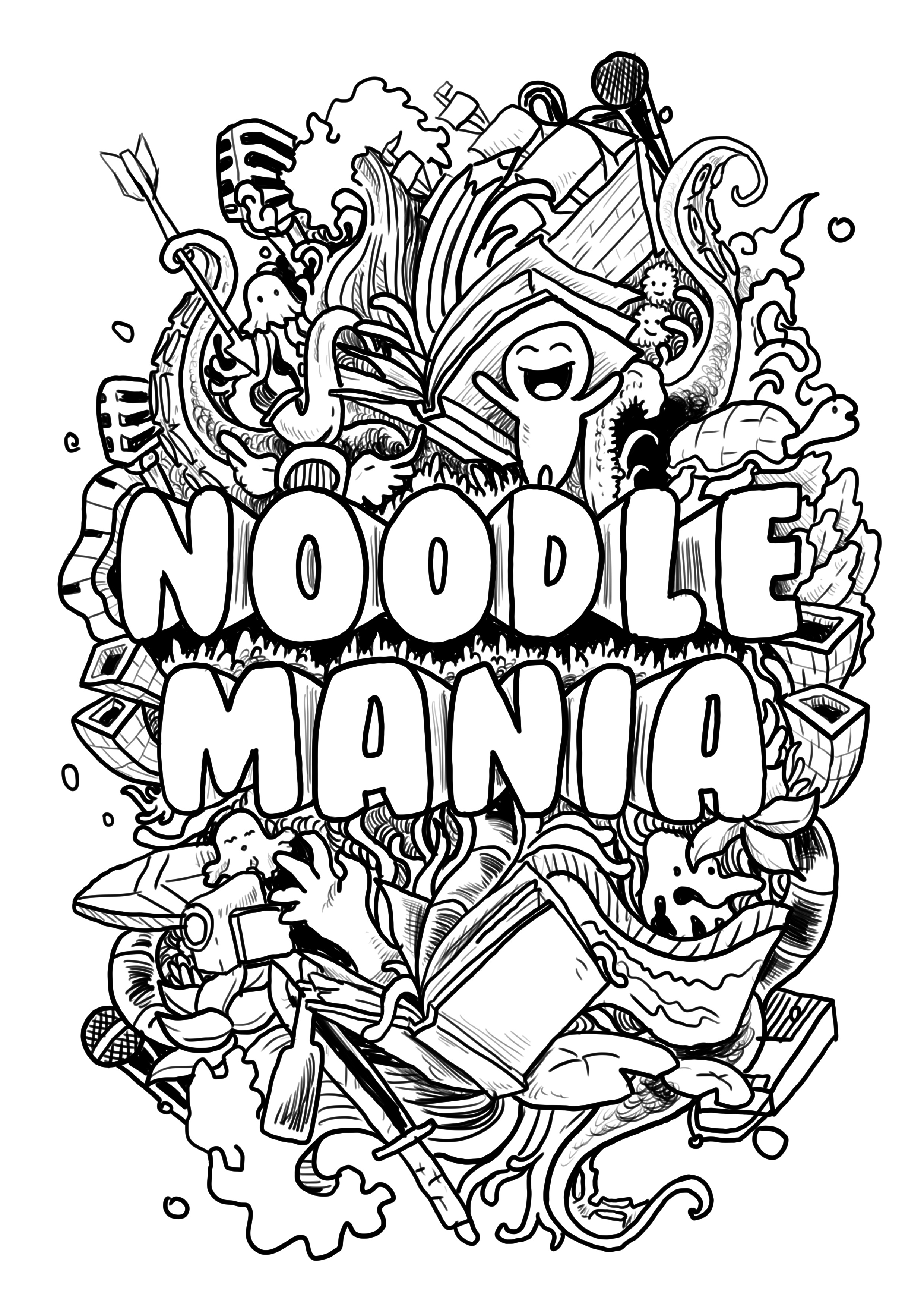 Noodle Mania Zine Release Art Party Draw Craft And Live Music Sf