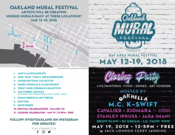 The 2018 Oakland Mural Festival | May 12-19