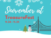 """Snovember"" Treasure Island: Epic Holiday Market & 20 Tons of Snow 