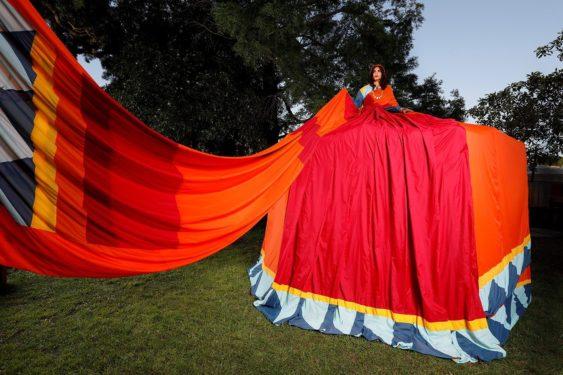 Asian Art Museum & SFu0027s Amazing 11-foot-tall Sari Dress Tent | Asian Art Museum