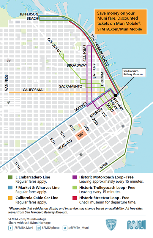 How To Ride Sf S Historic Muni Street Cars Free