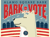 """""""Bark the Vote"""" Dog-Themed Voter Rally in Alamo Square 