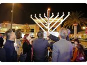 6th Giant Lego Chanukah Lighting | Fremont