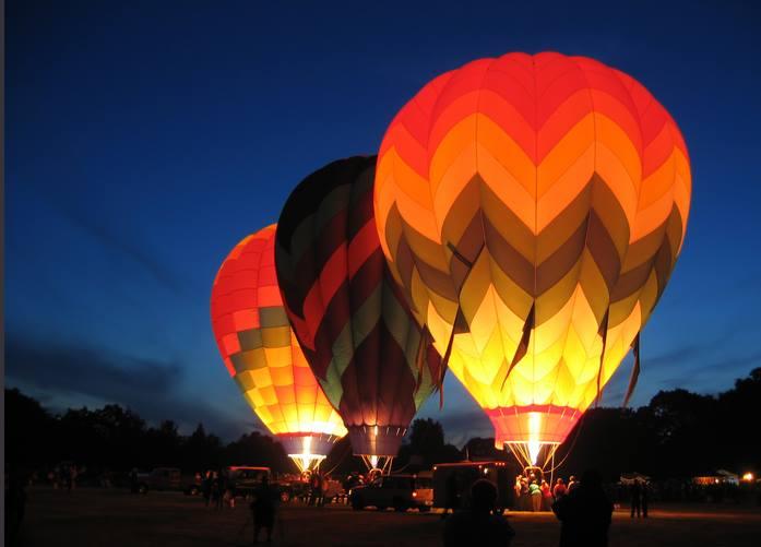 Air Balloon Template | Night Bloom Napa S After Dark Hot Air Balloon Experience 2019