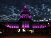 San Francisco City Hall Lights Up Purple