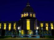 San Francisco City Hall Lights Up Like a Bee
