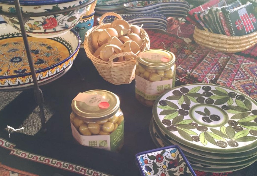 Palestinian Holiday Crafts Bazaar Embroidery Olive Oil