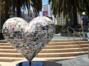Union Square's Brand New Heart Sculptures