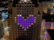 Check Out SF's Gorgeous Giant Purple Hotel Heart