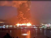 Massive Fire at SF's Pier 45. Historic WWII Ship Saved