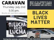 """No Justice No Peace"" Caravan to Support Black Lives Matter"