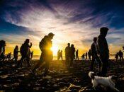 George Floyd Ocean Beach Memorial Stroll at Sunset