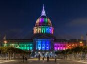 SF City Hall Lights up Rainbow for 2020 Pride