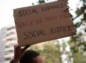 Noe Valley Police Violence Protest with Social Distancing