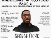 """Kneeling 4 Justice"" at SF City Hall: Memorial for George Floyd"