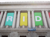 "SF's Huge 21-Foot ""Pride"" Banners Just Went Up at Civic Center"