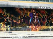 """Oakland Protest's """"Woman On A Horse"""" Gets Her Own Mural"""