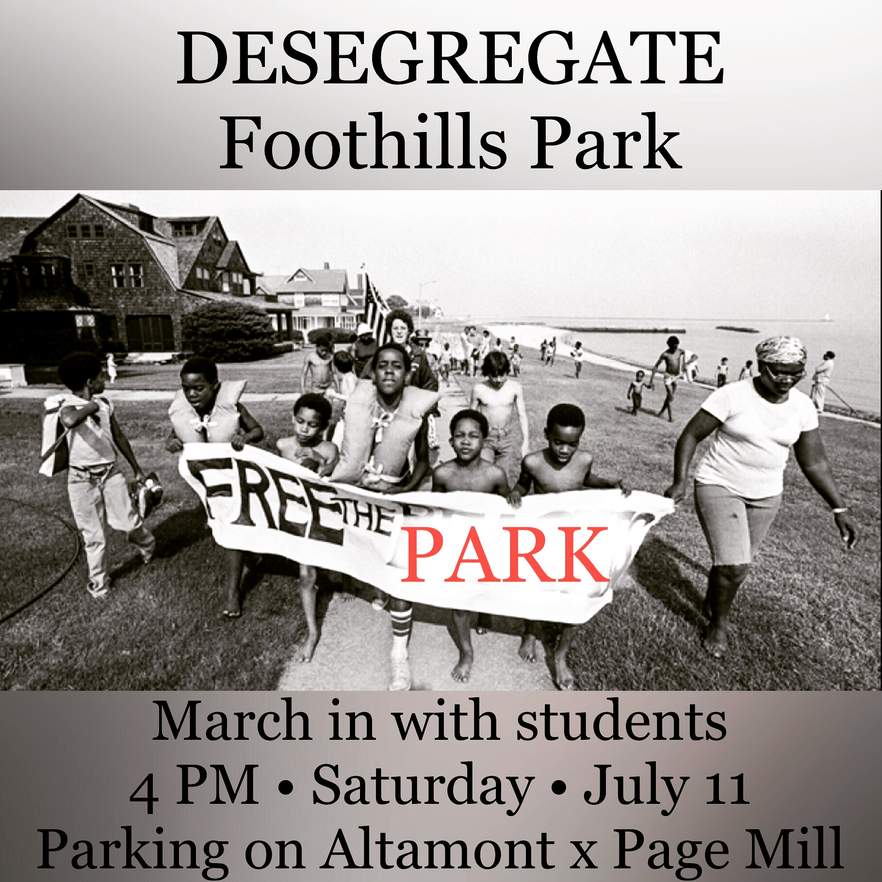 """""""Free the Park"""" March with Students"""