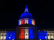 SF City Hall Lights up Red, Blue and White for Independence Day Kick Off