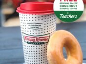 Free Krispy Kreme Doughnut & Brewed Coffee for Teachers Last Day