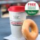 Free Krispy Kreme Doughnut & Brewed Coffee for Teachers Last Day