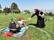 """SF's Fabulous """"Sisters"""" Hand Out Free Masks at Dolores Park"""