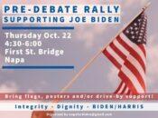 Pre-debate Rally Supporting Joe Biden at Napa