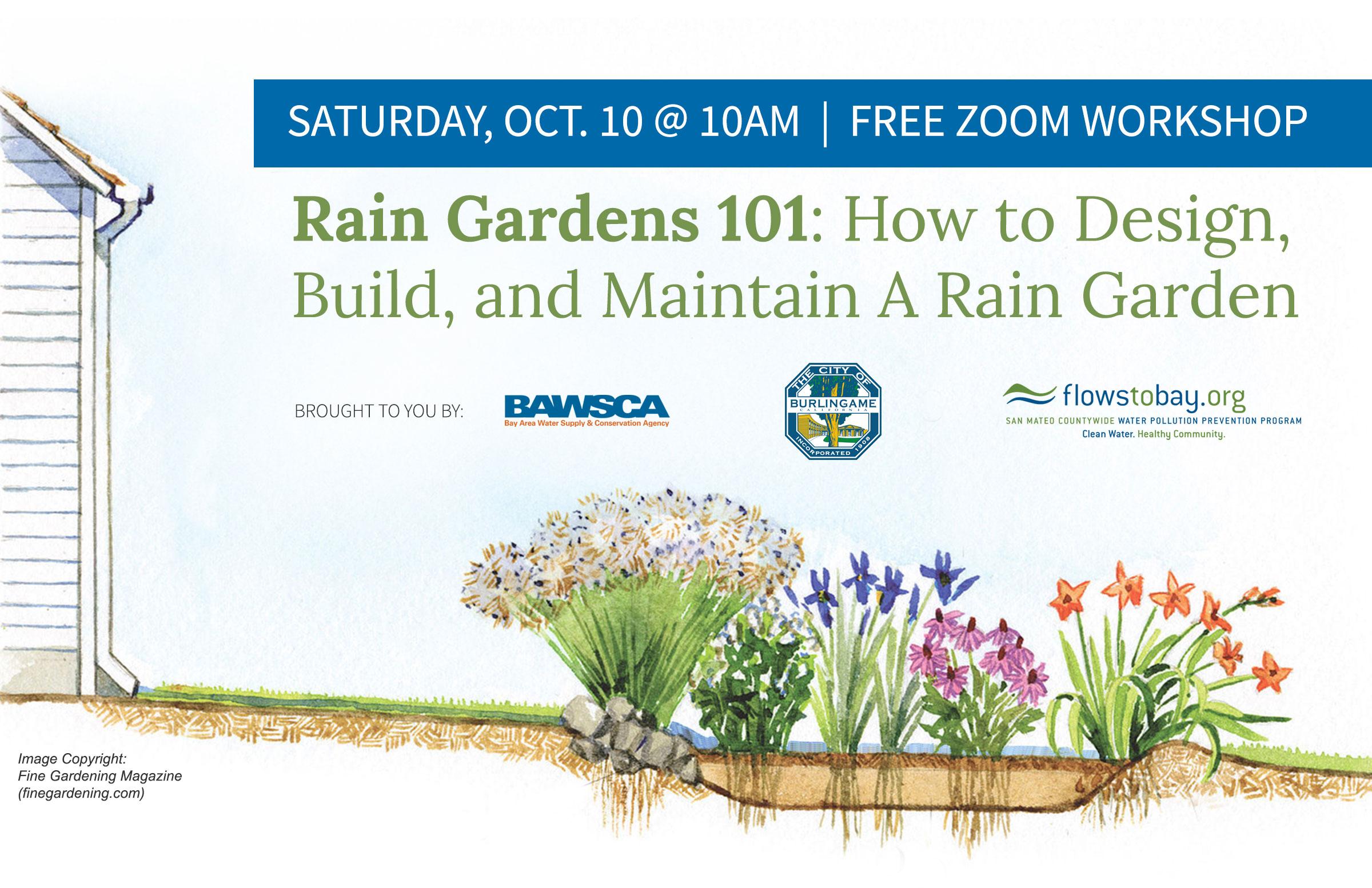 Rain garden rebate image with logos