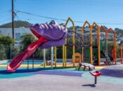 SF Park Gets Awesome New Dino-Slide (Or is it Jar Jar Binks?)