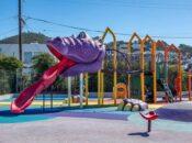 SF Park Gets Awesome New Dino-Slide (Or is it Jar Jar Binks?)