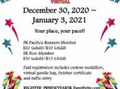 Pacifica Runners' New Year's 5k Virtual Race (Dec 30 - Jan 3)