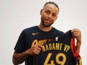 "Warriors Give VP Kamala Harris ""Madame VP"" Jersey"