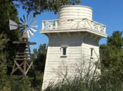 Historical Picture of Early Gamble Garden's Water Tower & Well