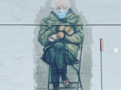 Brand New Mural of Bernie Meme Pop Ups in Oakland