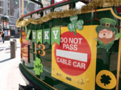 SF Cable Car Dresses Up for St. Paddy's Day