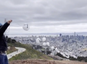 Pi Digits Floated Above SF for 'Pi Day'