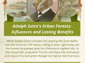 Adolph Sutro's Urban Forests: Influences and Lasting Benefits