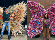 """LAST DAY: Giant 9-Foot-Tall """"Floral Butterflies"""" Hit the Streets of SF"""